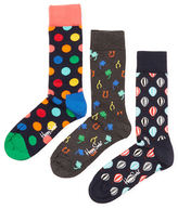 Happy Socks Colored Intarsia Socks (3 PK)