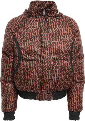 Missoni Quilted Printed Shell Hooded Down Jacket