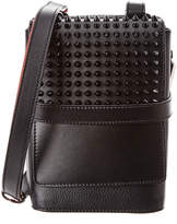 Christian Louboutin Benech Reporter Spiked Leather Crossbody