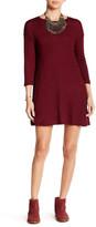 Angie 3/4 Length Sleeve Lightweight Sweater Dress