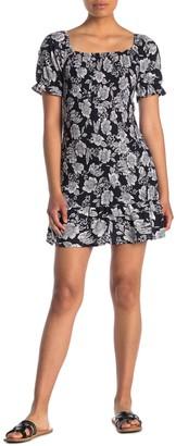 Sweet Rain Short Sleeve Floral Print Dress