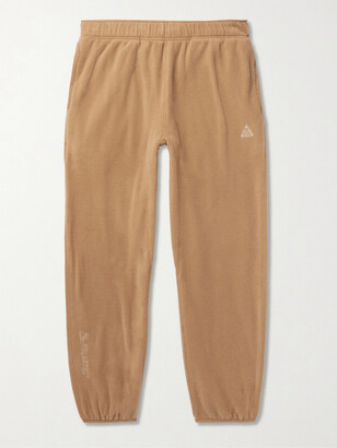 Nike ACG NRG Wolf Tree Logo-Embroidered Polartec Fleece Sweatpants - Men - Neutrals