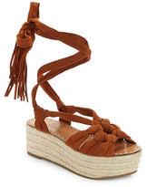 Sigerson Morrison Cosie Suede Espadrilles Platform Sandals