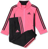 adidas 2-Pc. Tricot Jacket and Jogger Pants Set, Little Girls (4-6X)