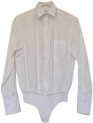 Alix White Cotton Top for Women