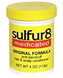Sulfur8 Medicated Anti-Dandruff Hair & Scalp Conditioner, Original Formula, 4-Ounce Bottle (Pack of 3) by Sulfur 8