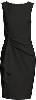 Carolina Herrera Icon Gather Sheath Dress