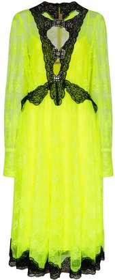 Christopher Kane Floral Lace-Embellished Dress