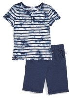 Splendid Boy's Tie Dye Henley T-Shirt & Shorts Set