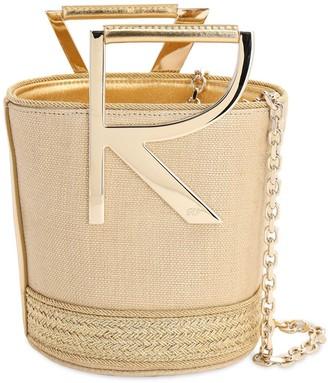 Roger Vivier Linen Lame Bucket Bag