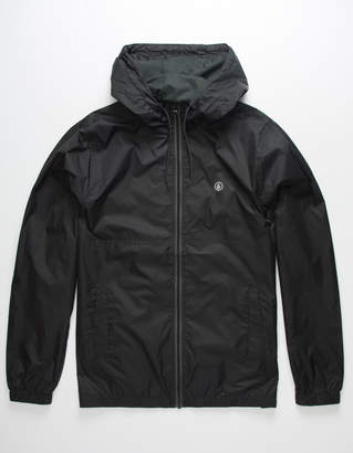 Volcom Ermont Black Mens Windbreaker Jacket