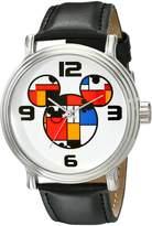 Disney Men's W001834 Mickey Mouse Analog Display Quartz Black Watch