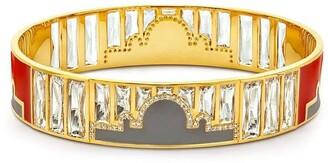 BUDDHA MAMA 20kt Yellow Gold Diamond Enamel Bangle
