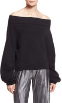 Opening Ceremony Off-the-Shoulder Wool-Blend Sweater, Black