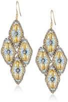Miguel Ases Swarovski 14k Gold Filled Drop Earrings