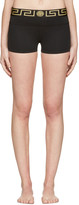 Versace Underwear Black Medusa Boy Shorts