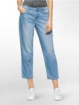Calvin Klein Wide Leg Light Wash Ankle Jeans