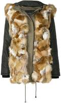 Ash fur trim coat