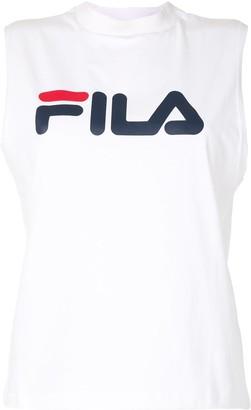 Fila Mock Neck Logo Print Tank Top