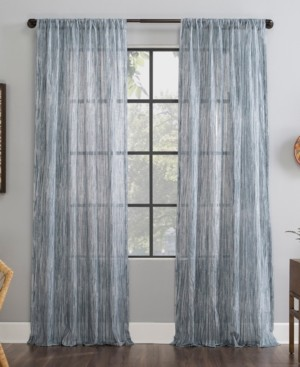 "Archaeo Bamboo Stripe 50"" x 84"" Sheer Curtain Panel"