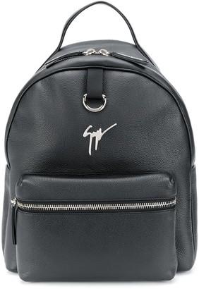 Giuseppe Zanotti Logo-Plaque Leather Backpack