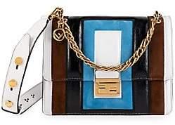 Fendi Women's Small Kan U Embossed Leather Shoulder Bag