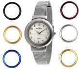 Peugeot Women's '7 Bezel Interchangeable' Quartz Metal and Stainless Steel Dress Watch, Color:Silver-Toned (Model: 642)