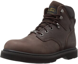 AdTec Ad Tec Mens 6 inch Soft Cushioned Padded Collar Work Boot Protective Steel Toe Lightweight Stylish Eyelets Lace Up Closer Casual and Work Boots for Men