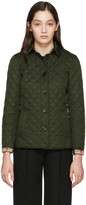 Burberry Green Diamond Quilted Ashurst Jacket