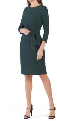 Glitter Knit Side Tie Dress
