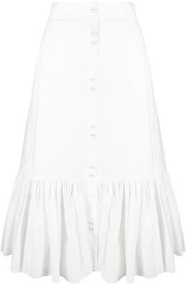 Cara Cara Ruffled Hem Skirt