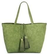 Merona Women's Faux Leather Tote with Crossbody Bag Handbag