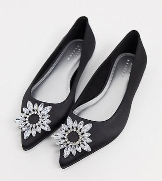 black satin ballet slippers