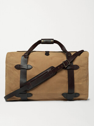 Filson Leather-Trimmed Twill Duffle Bag - Men - Brown