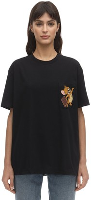 Etro Cotton Jersey T-shirt W/ Printed Pocket