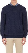 Ermenegildo Zegna Men's Cashmere Cable-Knit Sweater-NAVY