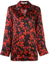 Givenchy abstract floral print shirt - women - Silk - 36