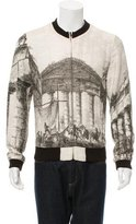 Dolce & Gabbana Greece Print Bomber Jacket