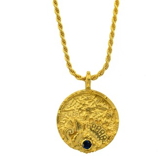 Annabelle Lucilla Jewellery Oceanesque Coin Rope Chain Pendant