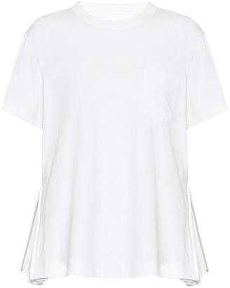 Sacai Zipped cotton T-shirt