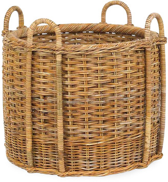 Mainly Baskets French Country Fireplace Rattan Log Carrier