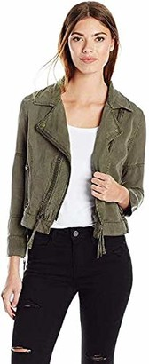 Pam & Gela Women's Cropped Moto Jacket