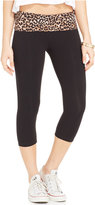 Material Girl Active Juniors' Cropped Foldover Leggings, Only at Macy's