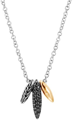 John Hardy Classic Chain Sterling Silver, 18K Yellow Gold & Mixed-Stone Spear Pendant Necklace