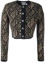 Fausto Puglisi snake print effect cardigan