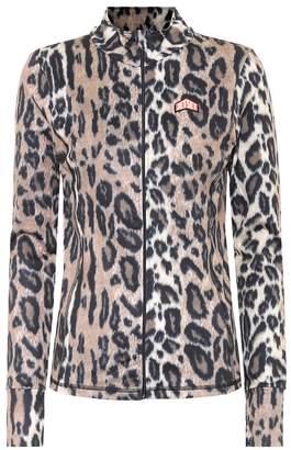 Jet Set Cilla leopard soft-shell jacket