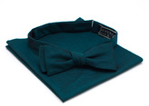 General Knot & Co Peacock Requisite Bow Tie & Pocket Square Set