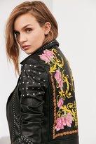 Silence & Noise Silence + Noise Irina Embroidered Moto Jacket