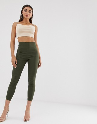 ASOS DESIGN high waist trousers in skinny fit