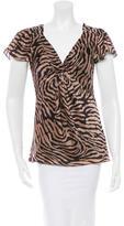 Diane von Furstenberg Silk Tiger Printed Blouse